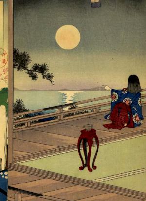 名月の俳句と季語(東錦絵)