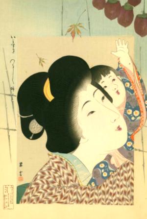 俳句と季語の柿(昇雲いますがた)
