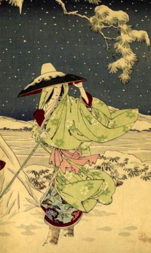 雪女の俳句と季語(東錦絵)