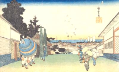 季語と俳句で霞(国立国会図書館オンライン:江都名所かすみかせき)
