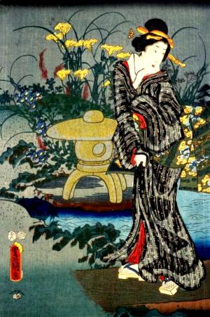 女郎花の俳句と季語(十二月ノ内葉月つき見)