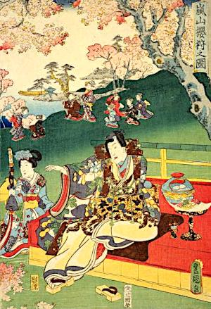山桜の俳句と季語(嵐山桜狩之図)