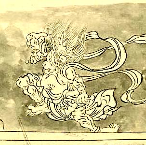 季語と俳句で雷(北野天神縁起)