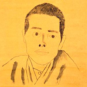 子規居士自画肖像