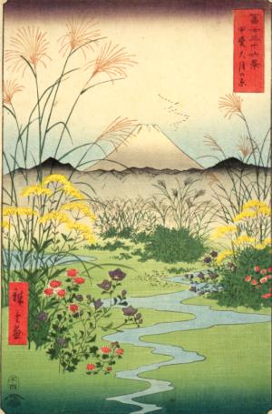 によつぽりと秋の空なる富士の山